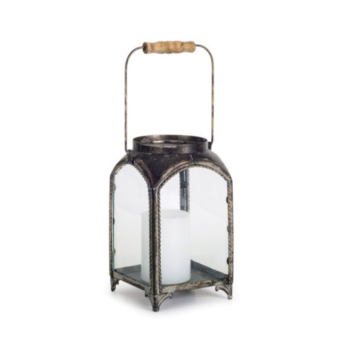 Copper and Brown Six-Inch Lantern