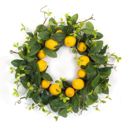 Green and Yellow Seven-Inch Lemon Wreath
