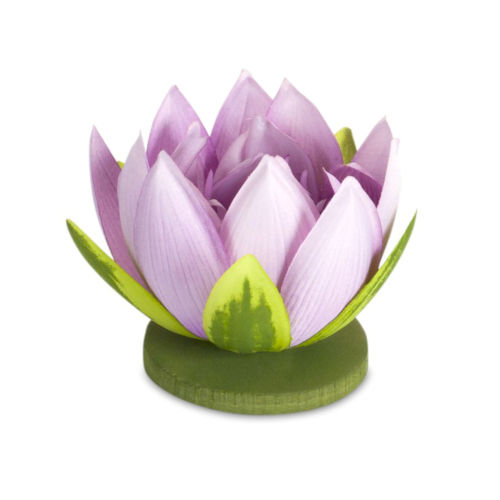 Purple and Green Four-Inch Lotus Sprays, Set of 12