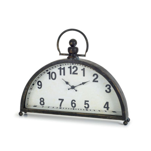 Brown and Black Two-Inch Clock