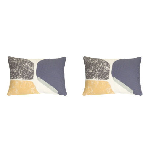 Blue and White 12-Inch Pillow, Set of 2