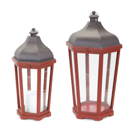 Red and Purple Lantern, Set of 2
