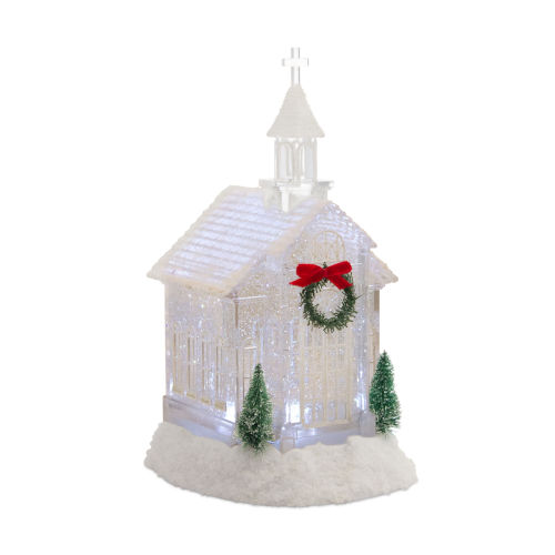 LED Lighted Church Snow Globe