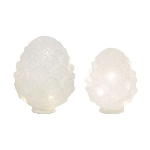 LED Lighted Pine Cone Globe