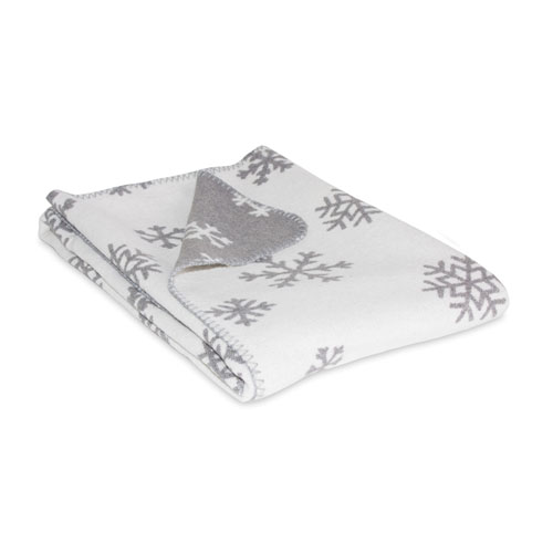 Grey and White Snowflake Throw
