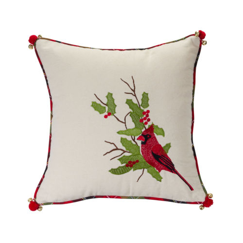 Holiday Cardinal Throw Pillow