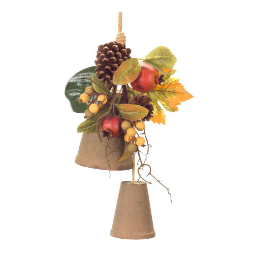 Brown and Red Pomegranate Fall Leaf Drop, Set of 4