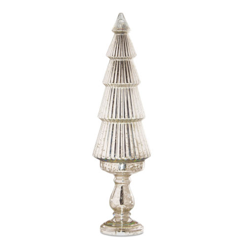 Silver Tree on Pedestal