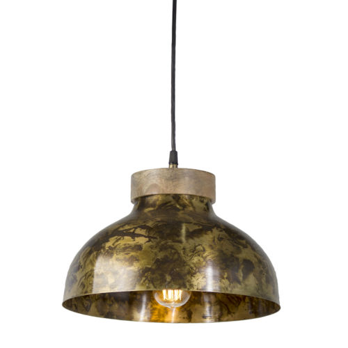 Copper and Brown 13-Inch One-Light Pendant