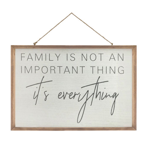 Brown and White Family Frame