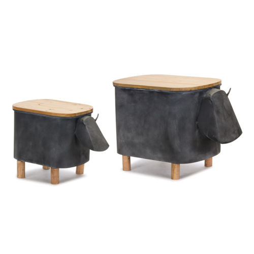 Cow Planter with Lid, Set of 2