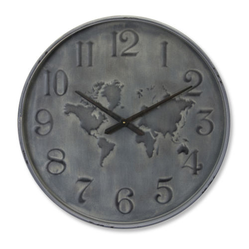 Grey and Black 28-Inch Clock