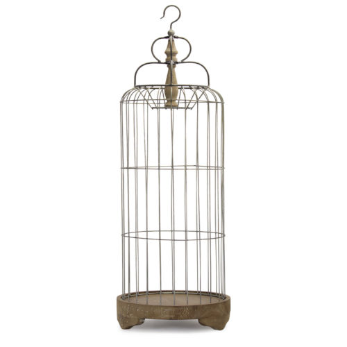 Brown and Silver Bird Cage