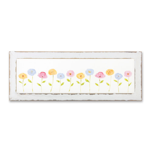 White and Green Floral Frame