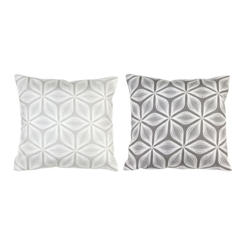 Grey and White Pillow, Set of 2