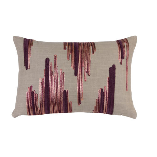 Pink and Purple Pillow, Set of 2