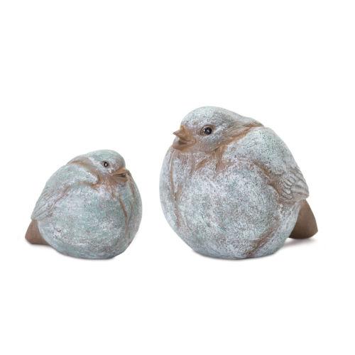 Brown and White Bird Figurine, Set of 8