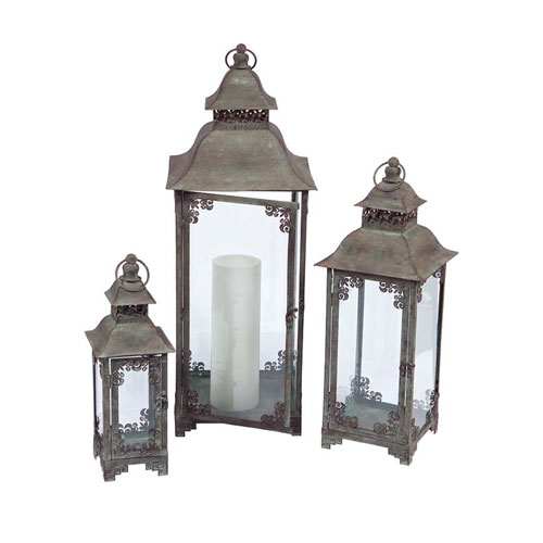 Gray Lantern, Set of Three