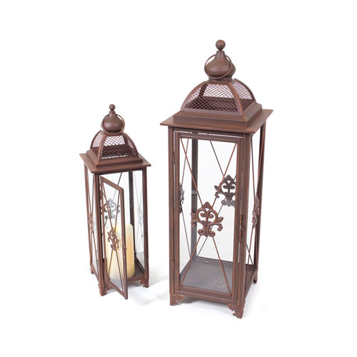 Rust Lantern, Set of Two
