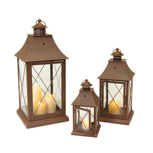 Brown Lantern, Set of Three