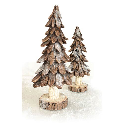 Brown Tree, Set of Two