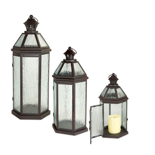 Brown Lantern, Set of Three