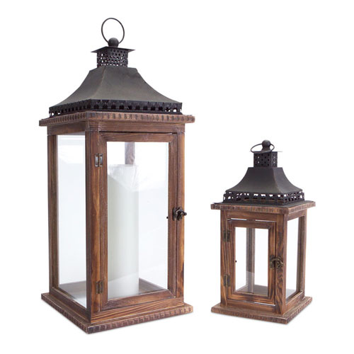 Brown and Black Lantern, Set of Two