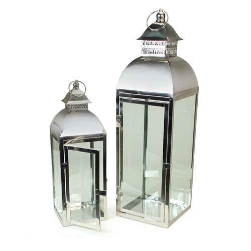 Silver Lantern, Set of Two