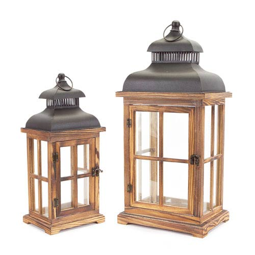 Black and Brown Lantern, Set of Two