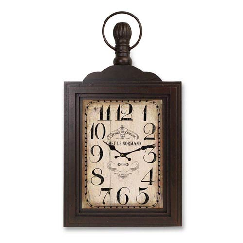 Brown and Rust Wall Mount Clock