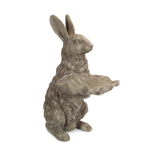 Gray Rabbit Bird Feeder