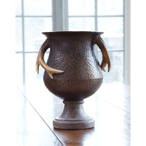Brown and Beige Antler Vase