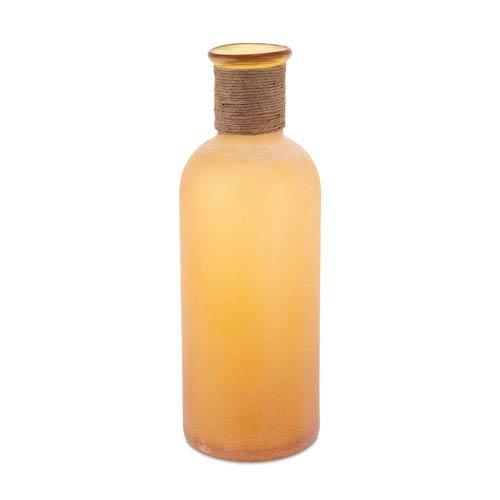 Orange Handblown Frosted Vase with Twine