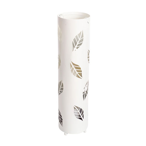 Ivory Cut Out Leaf Standing Lantern