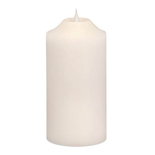 Melrose International White Simplux Pillar Moving Flame Candle with Remote