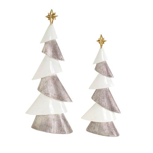 White and Silver Modern Tree, Set of Two