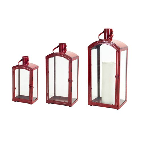 Red Lanterns, Set of Three