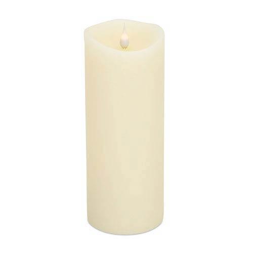 Melrose International Ivory Simplux Designer Melted Candle with Remote