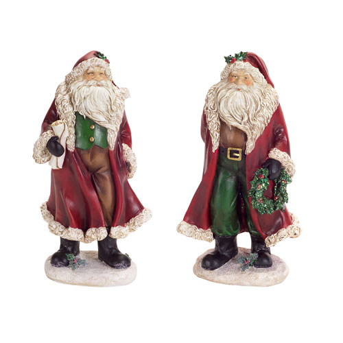 Burgundy Santa, Set of Two
