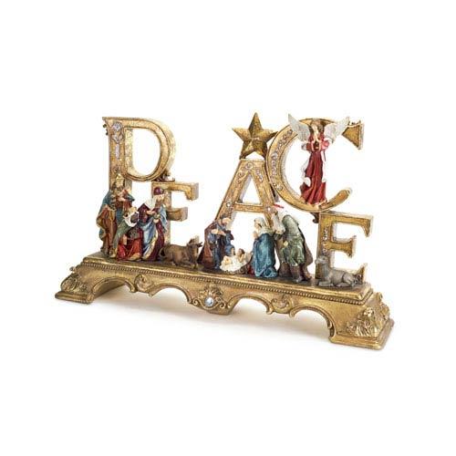 Gold Nativity Scene
