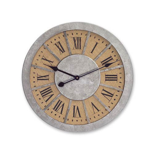 Brown and Gray Wall Clock