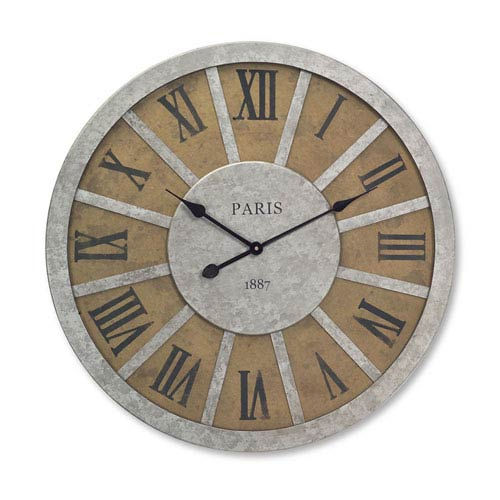 Brown and Gray Wall Clock