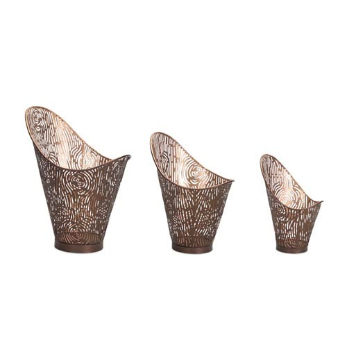 Melrose International Brown Baskets, Set of Three