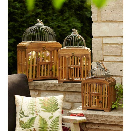 Decorative Birdcages, Set of Three