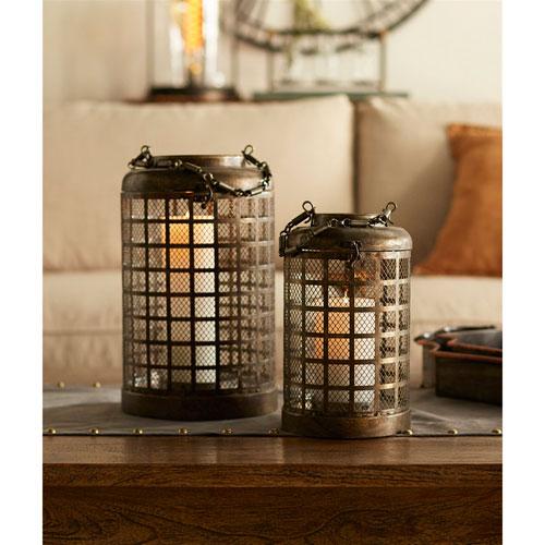 Bronze Mesh Lanterns, Set of Two