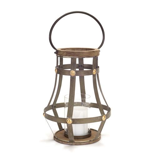 Melrose International Brown and Gold Open Lantern