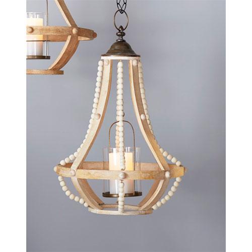 Cream and Brown Hanging Lantern