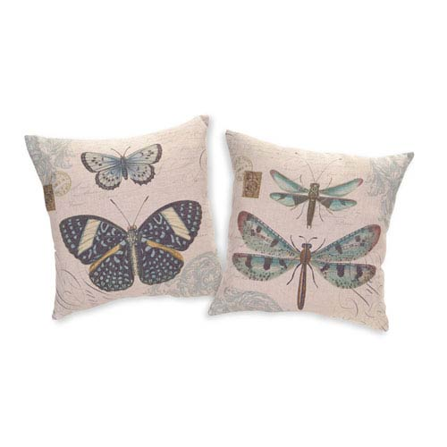 Butterfly and Dragonfly Pillows, Set of Two