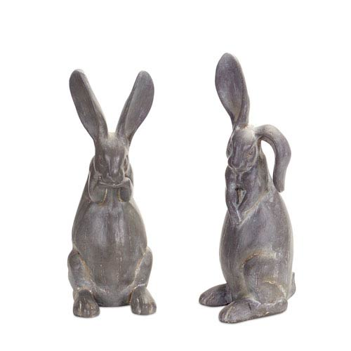 Rabbit Figurine, Set of Two