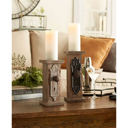 Door Knob Candle Holders, Set of Two